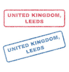 United kingdom leeds textile stamps vector