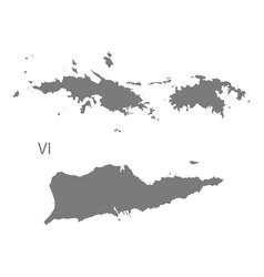 Us virgin islands map grey vector