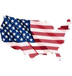 usa flag in form maps united states vector image