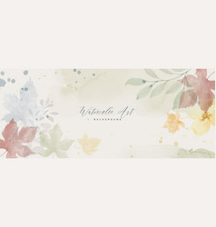 Watercolor pastel autumn abstract background vector