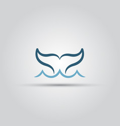 whale fish tail isolated icon vector image