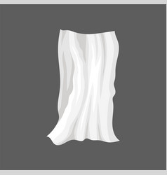 White satin cloth drape with wavy folds silk bed vector
