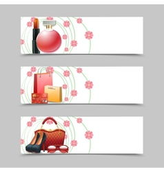 Women Shopping Banners vector image