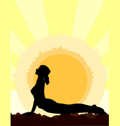 Yoga cobra pose vector
