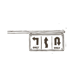 A traffic sign is indicated vector image vector image
