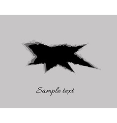 black hole in gray background vector image vector image