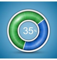 Circular progress bar vector image vector image