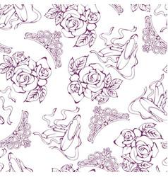 dance line pattern ballet vector image vector image