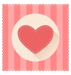 Red heart for Valentine s Day vector image vector image