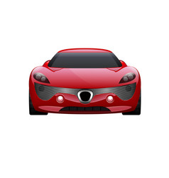 car on white background business sport car vector image vector image