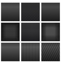 Carbon fiber seamless pattern backgrounds vector image