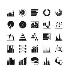 Data bar graphic and statistics charts vector