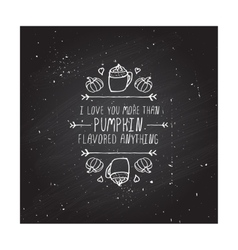 handdrawn autumn element with text vector image vector image