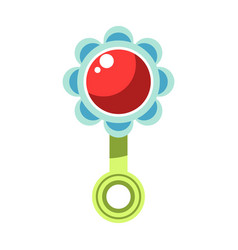 kid toy children plaything infant rattle vector image vector image