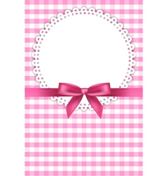 baby pink napkin background vector image vector image