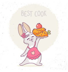 Bunny cook vector