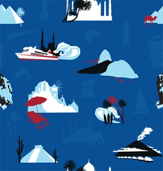 cruise travel background vector image vector image