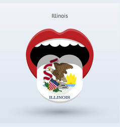 electoral vote of illinois abstract mouth vector image