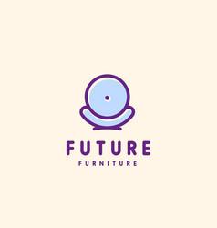 modern minimalistic furniture logo template vector image