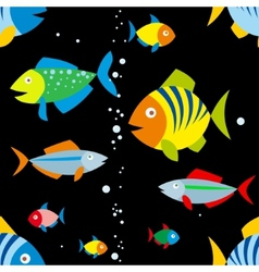 background of colorful fish vector image vector image