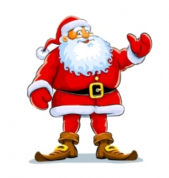 Christmas Santa Claus stand vector image