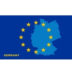 Flag of european union with germany on background vector