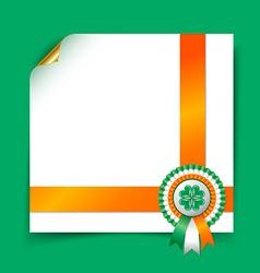Irish document template vector image vector image