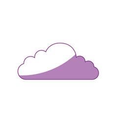 isolated cloud cartoon vector image