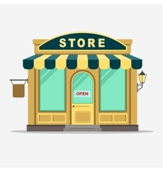 Street shop small store front vector image vector image