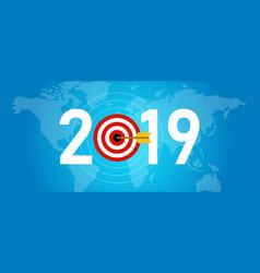 2019 new year target syombol dart aiming vector image