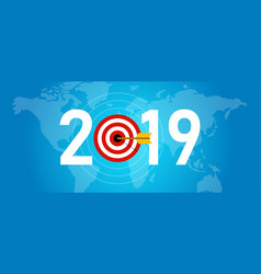 2019 new year target syombol of dart aiming for vector image