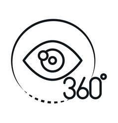 360 degree view virtual tour augmented linear vector