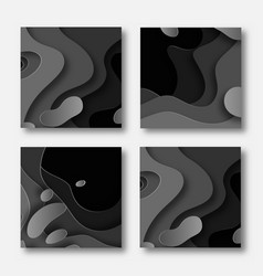3d abstract background with paper cut shapes vector image