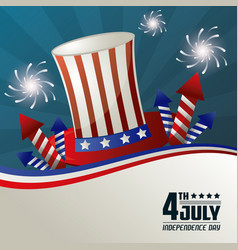 4th july independence day festive national vector image