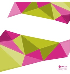 Abstract background with triangles and polygonal vector image