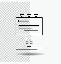 ad advertisement advertising billboard promo line vector image