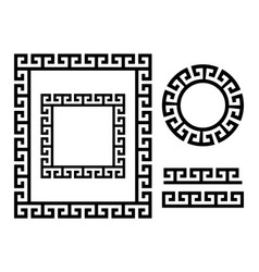 Ancient greek frame and border - key pattern vector
