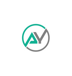 Ay letter logo design with creative modern trendy vector