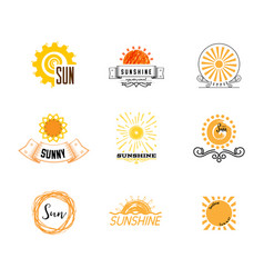 badge as part design - sun and summer vector image