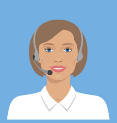 Beautiful woman with headset vector