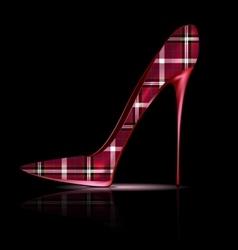 Big plaid shoe vector