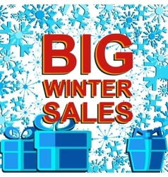 Big winter sale poster with BIG WINTER SALE text vector image