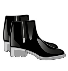 Black boots with clasp vector