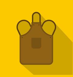 Blacksmiths apron icon flat style vector