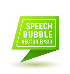 bubble speech green vector image