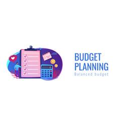 Budget planning concept banner header vector