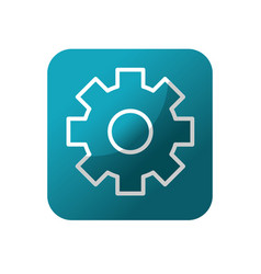 Button gear engineering industry process vector