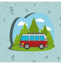 camping vehicle design vector image