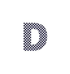 Checker pattern logo letter d vector