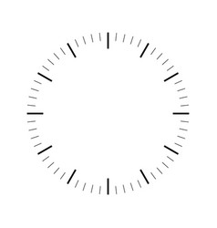 clock face blank hour dial dashes mark minutes vector image